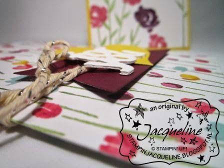 Stampin Jacqueline: Mini Treat Bag Thinlits en Painted Blooms