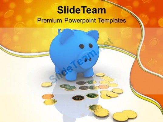 Piggy Bank Dollar Money Savings Powerpoint Templates Ppt Themes And