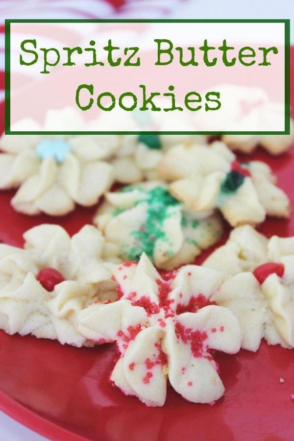 Spritz Butter Cookies Recipe Butter Cookies Recipe Christmas