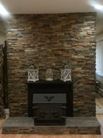 Msi California Gold Ledger Corner 6 In X 24 In Natural Slate Wall Tile 4 Sq Ft Case Lpnlscalgld624c The Home Depot Slate Wall Tiles Wall Tiles Stacked Stone Fireplaces