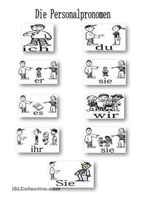 personalpronomen deutsch lernen pinterest deutsch. Black Bedroom Furniture Sets. Home Design Ideas