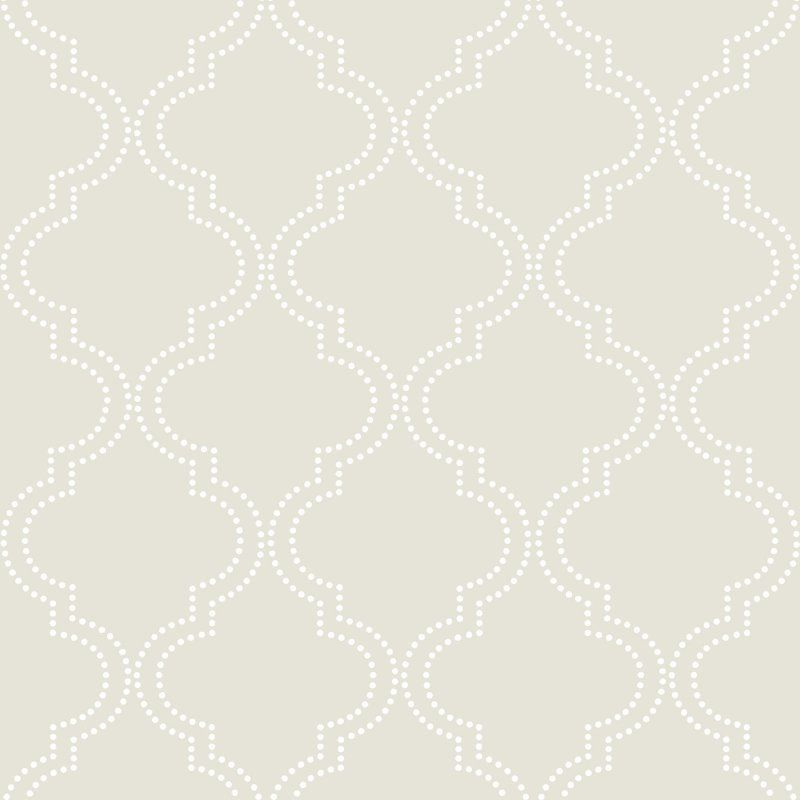 Brewster Quatrefoil Peel and Stick Wallpaper Taupe - NU1425