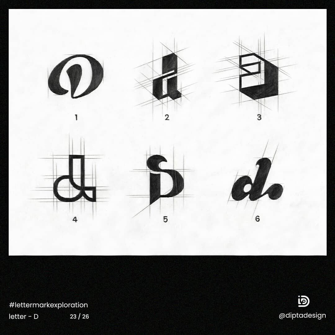 Dipta Brand Designer On Instagram Lettermarkexploration 23 26 Letter D Hey Pals Dropping My Letter D Exploration 3 More To Go Let Me Know Which One I 2020
