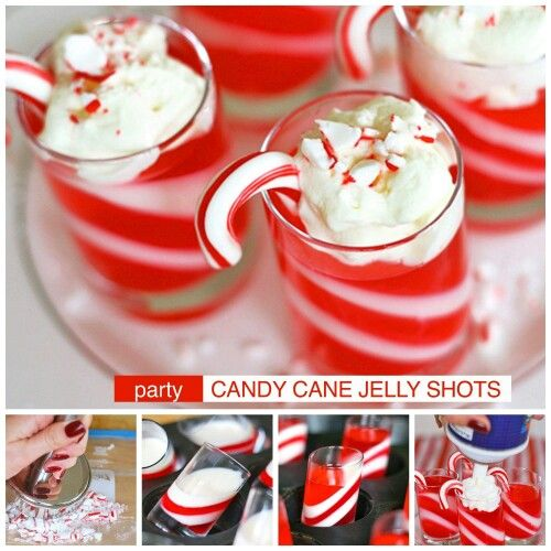 Candy Cane Jelly Shots