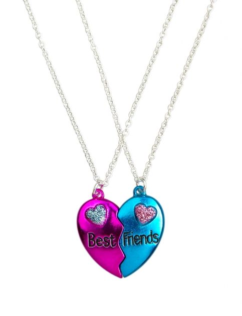 Bff Metallic Broken Heart Necklaces Girls Necklaces Jewelry Shop Justice Bff Jewelry Bff Necklaces Friend Jewelry