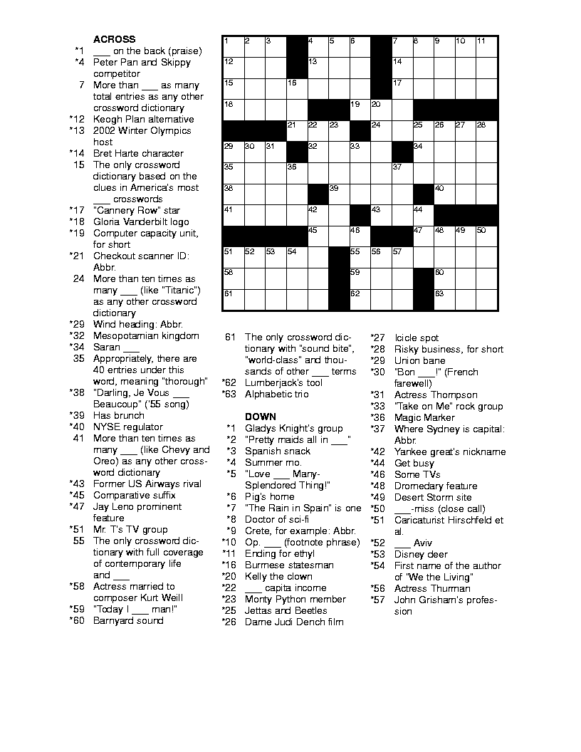 photo regarding Fun Crossword Puzzles Printable named cost-free printable crossword puzzles for grown ups puzzles-term