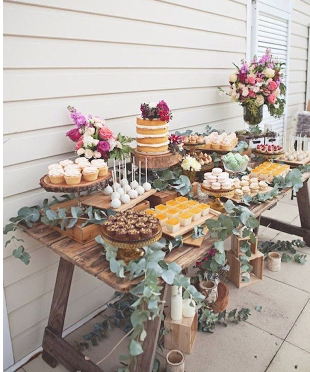 Wedding cake table decor ideas  Cake and sweets station  Candy bars  Pinterest  Cake Bridal