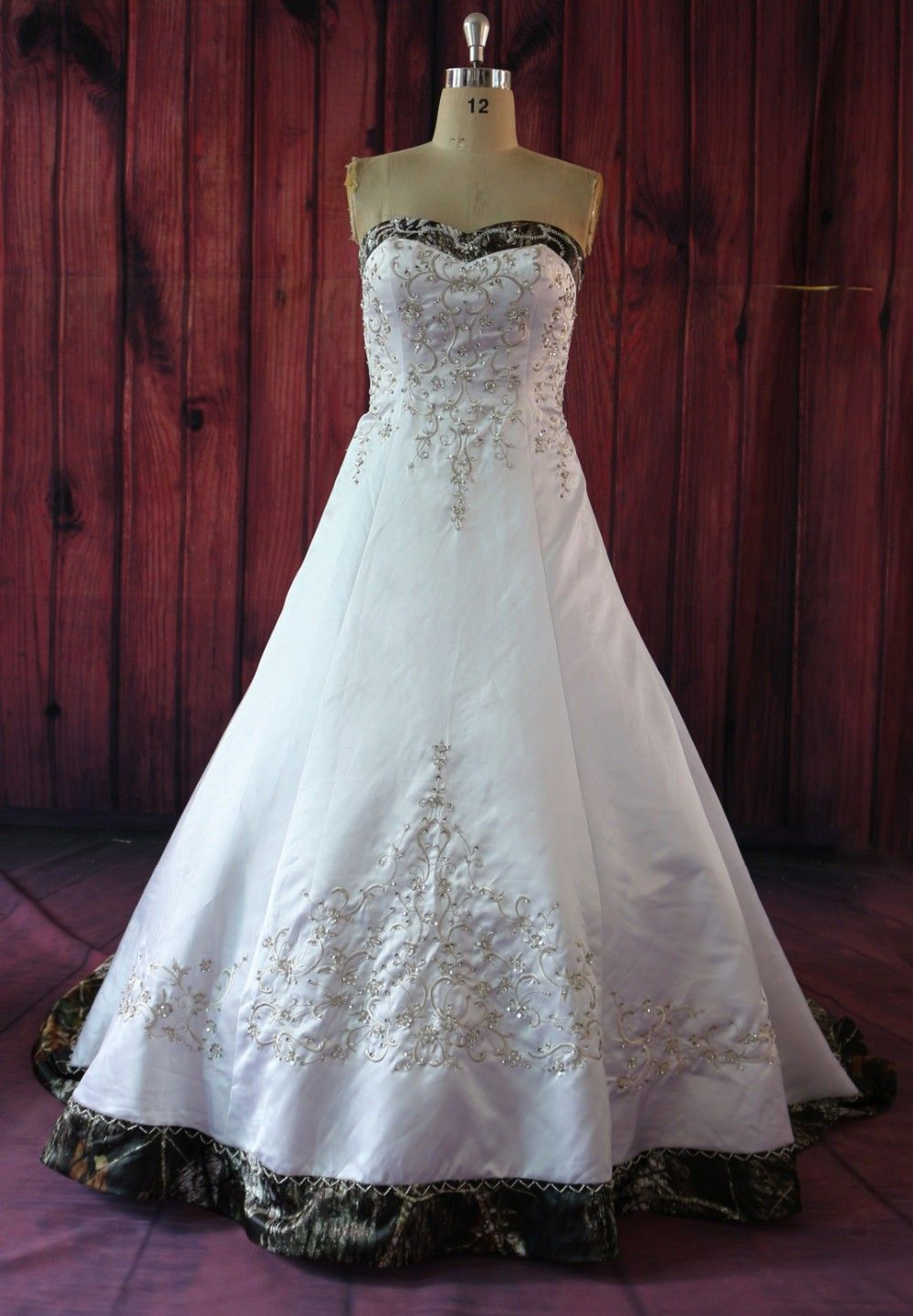Click to buy ucuc plus size camouflage wedding dress real photos