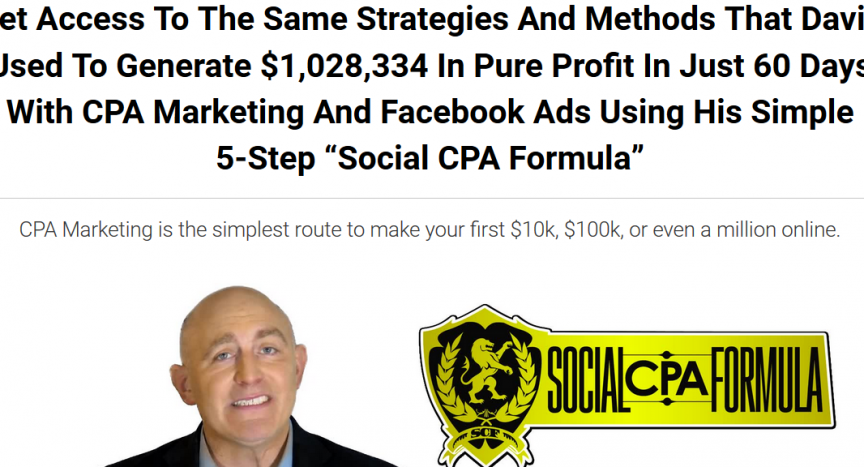 David Johnson - Social CPA Formula - Generate 6 to 7 figures with