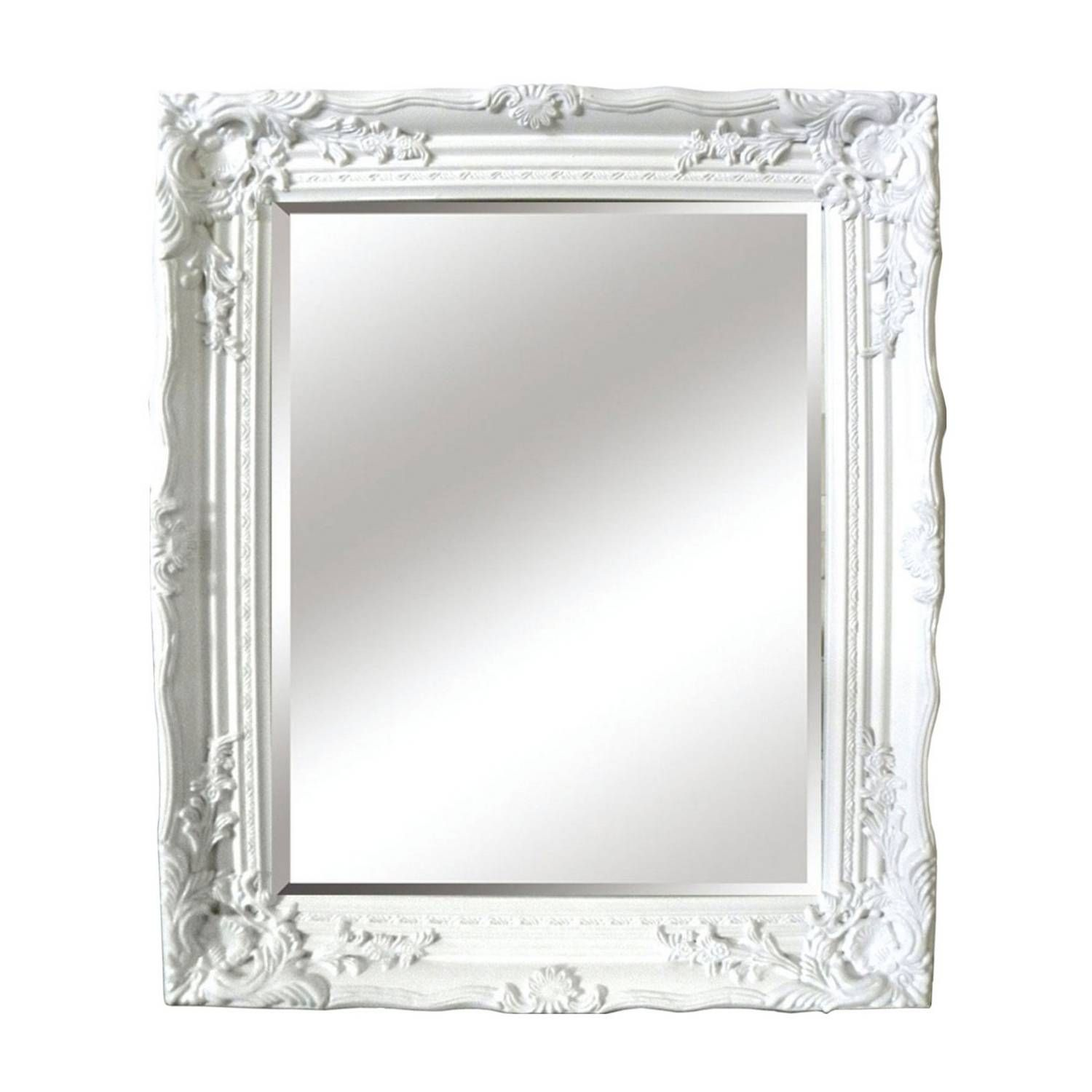 Buy antique white ornate mirror mirrors the range for White framed mirror