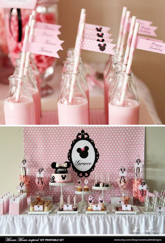MINNIE Mouse Bithday Party Printable Set por SweetScarletDesigns