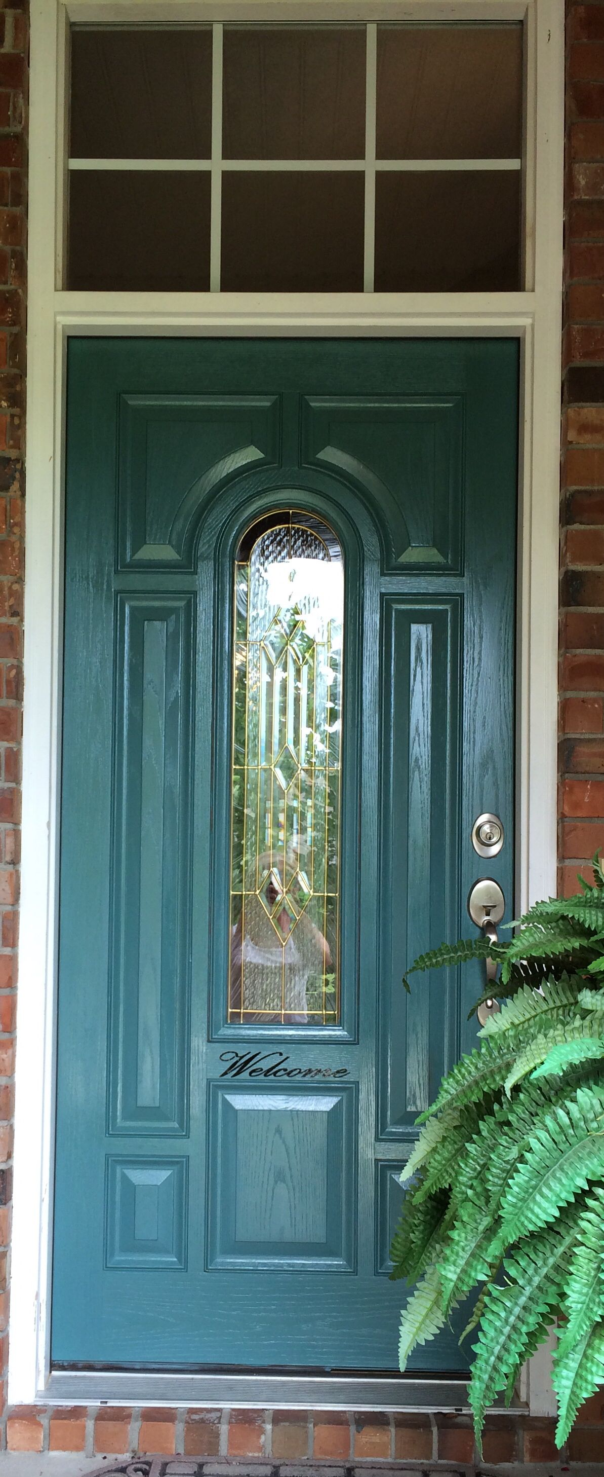 Chalk paint front door! | For the Home | Pinterest | Painted front ...