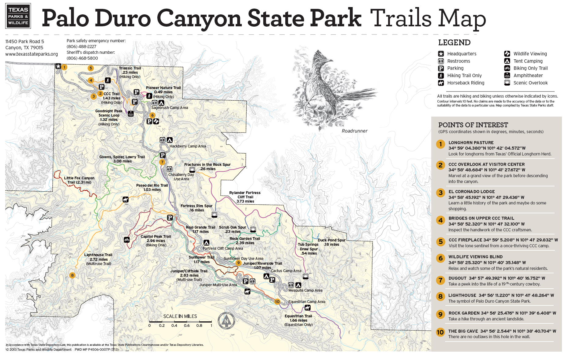 Palo Duro Canyon Texas Map PDC trail map | Palo duro canyon, Palo duro, State parks