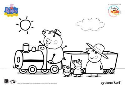 Peppa pig disegni da colorare peppa pig sul treno con for Peppa pig disegni da colorare