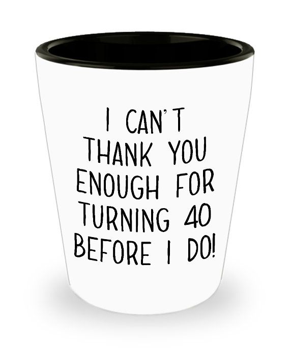 40th Birthday Gift 40 Years Old Shot Glasses Shots Glass USPS Mail Driver UPS FEDEX Funny Gag