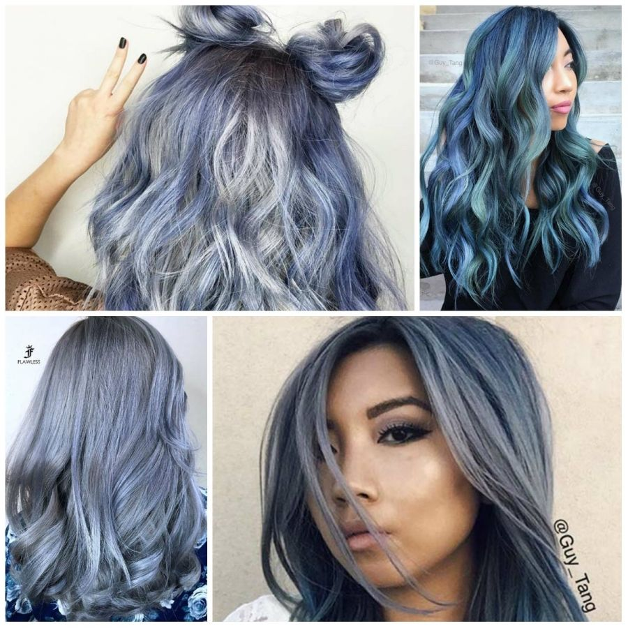 blue grey hair color - best hair color for brown green eyes | hair ...