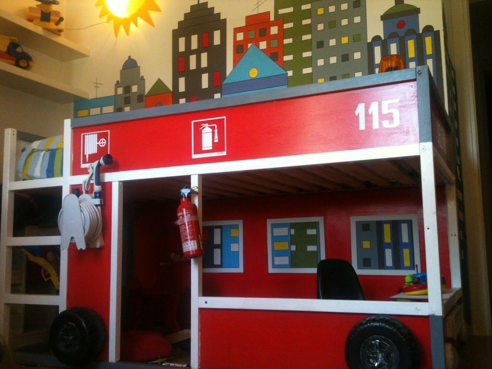 Letto Castello Trattore : Foto di letti a castello per bambini davvero originali