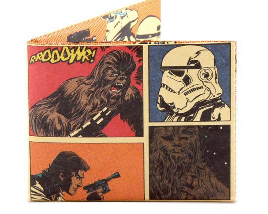 Han Solo and Chewbacca Comic Panel Mighty Wallet