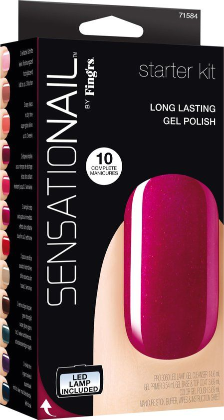 Sensationail Starter kit - Raspberry Wine - Gel nagellak
