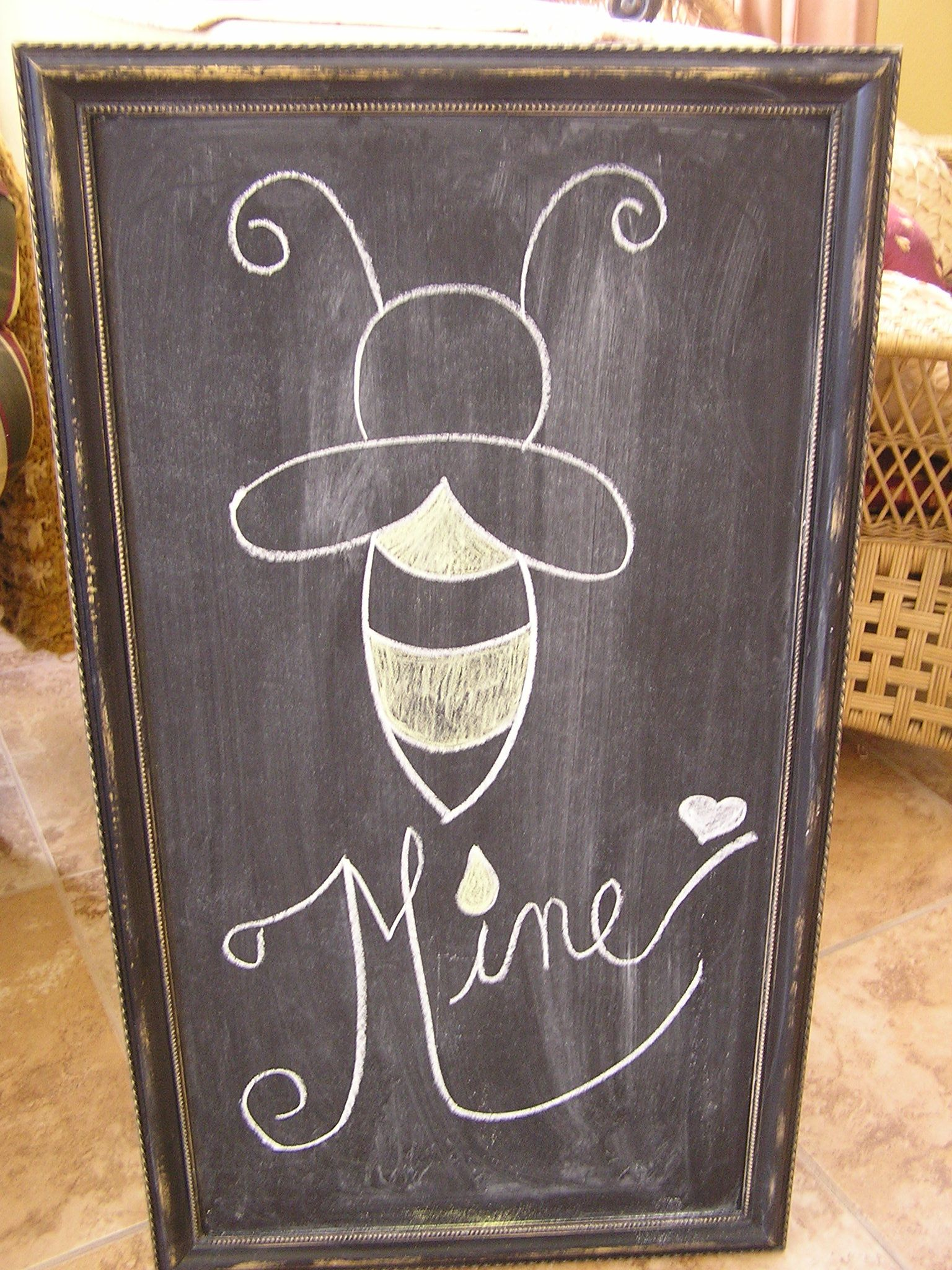 Ideas Pintura Pizarra Valentine Chalkboard Greeting My Kitchen Chalkboard