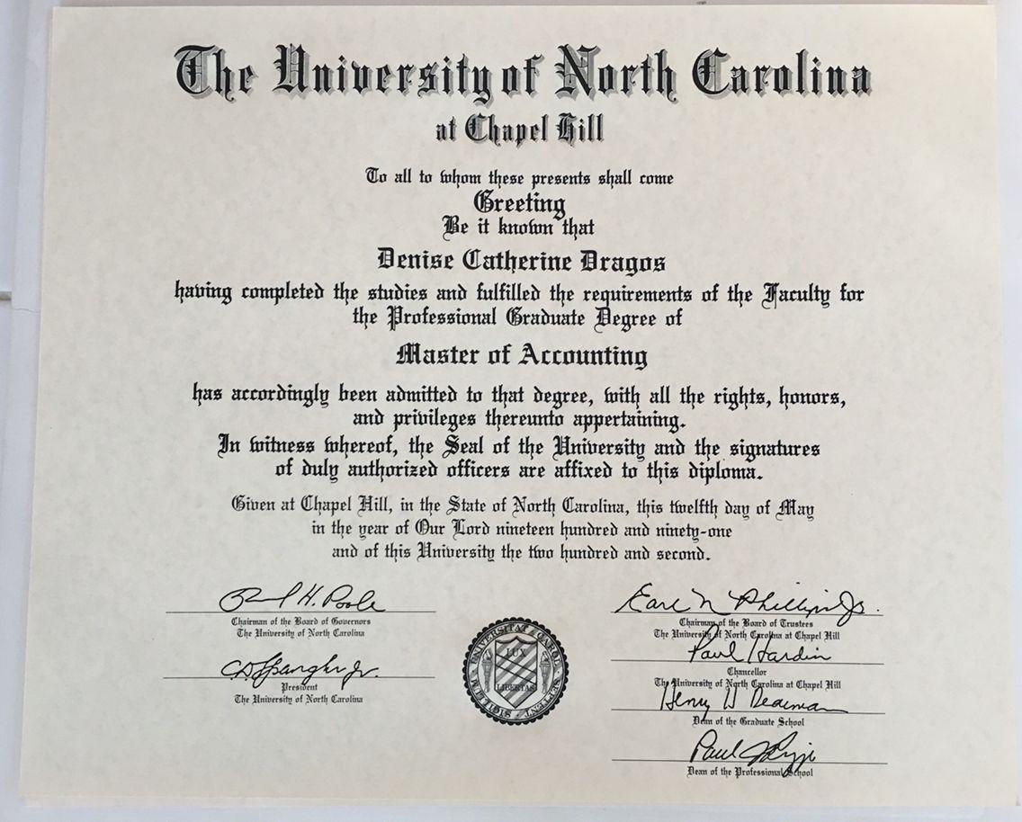My Mac Diploma North Carolina Chapel Hill University Of North Carolina Certificate Templates