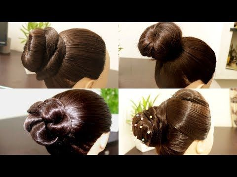 Beautiful MESSY BUN WITH FRONT PUFF HAIRSTYLE | Hair style girl | Party/wedding Hairstyle 2019 ...