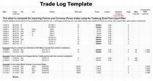 Trade Log Template Excel Sample Templates Pinterest Templates