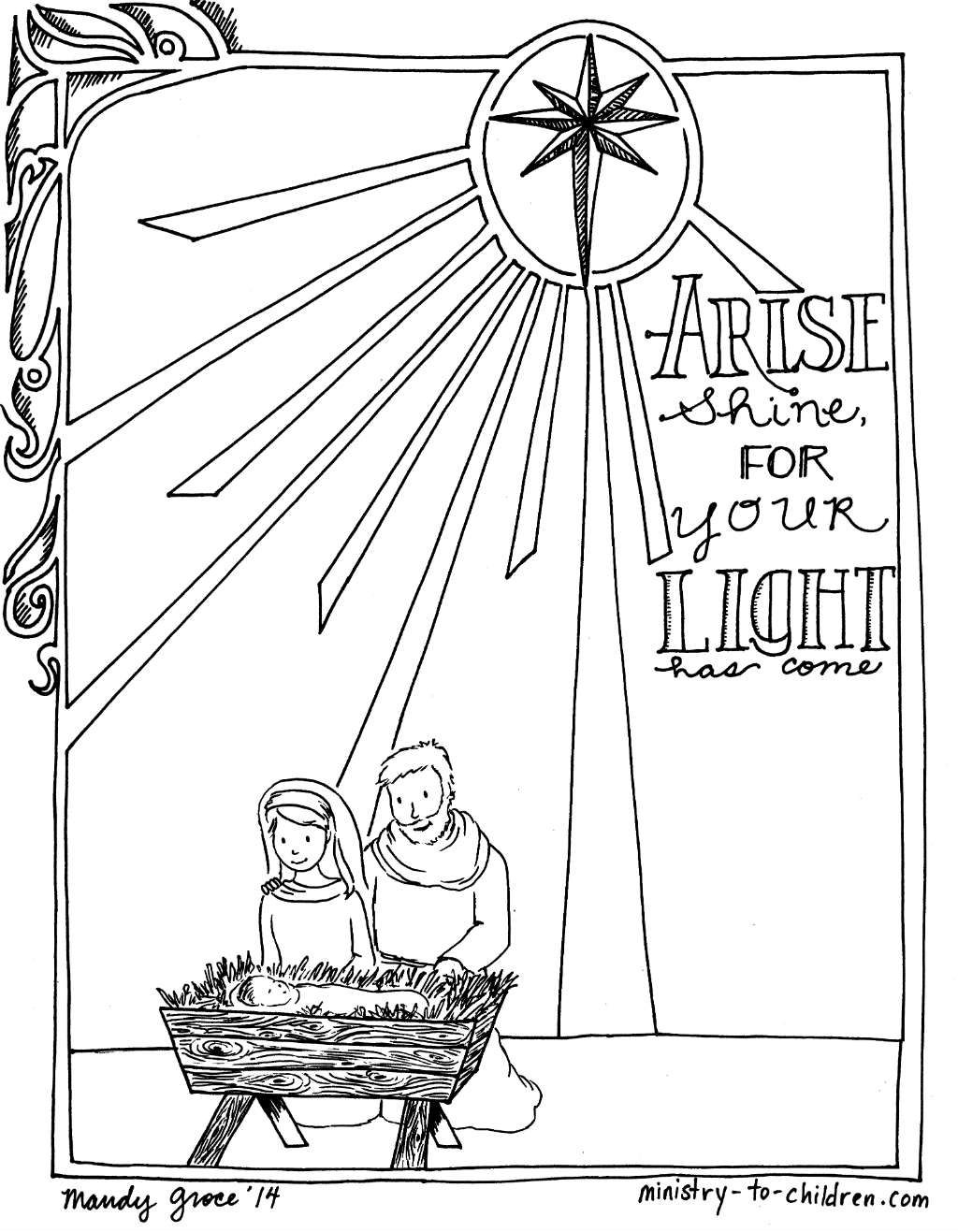 Colouring sheets nativity scene - We Hope Your Children Will Enjoy This Nativity Scene Coloring Page This Christmas It Has