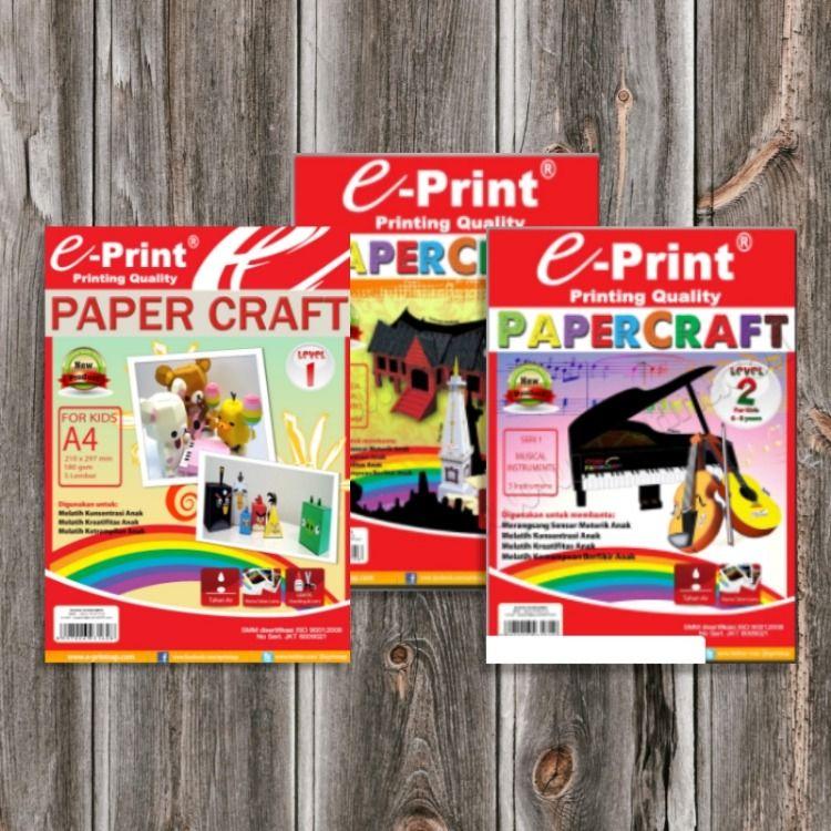 Kertas Craft Papercraft Kertas Craft Papercraft Level 1 3 E Print