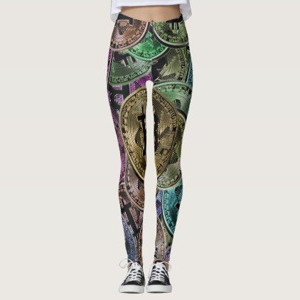 Bitcoin Leggings - yoga health design namaste mind body spirit