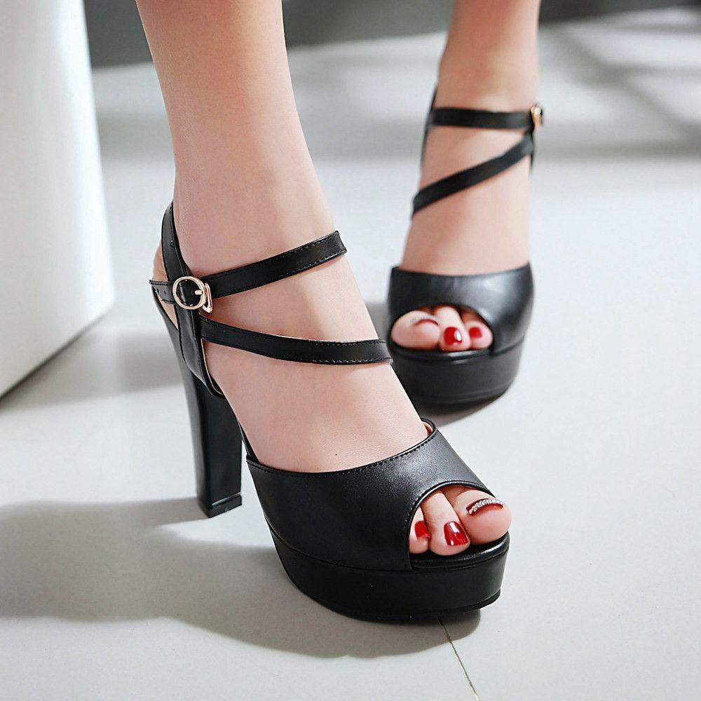 46873344082 Women Sandals Pumps Platform Peep Toes High-heeled Shoes