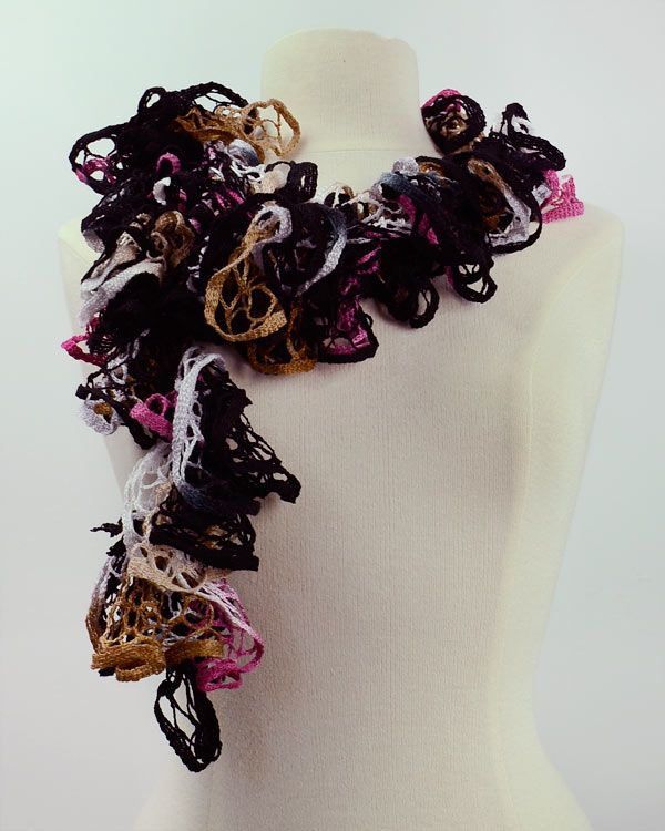 Get the yarn to make this at creativefiberarts scarf yarn ruffled scarf made with starbella yarn dt1010fo