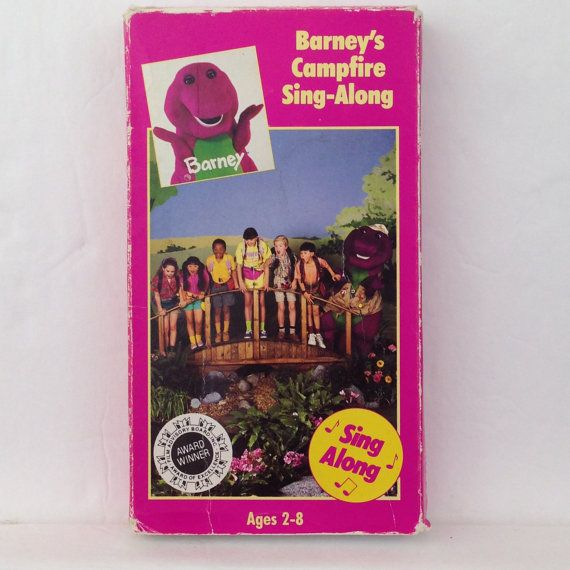 Barney's Campfire Sing Along VHS Tape Sing Along Video