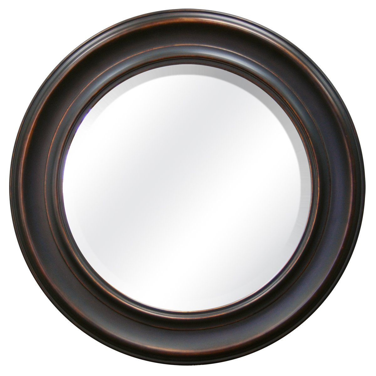 55 Mcs 26 Inch Round Mirror Frame With 18 5 Beveled Oil Rubbed Bronze
