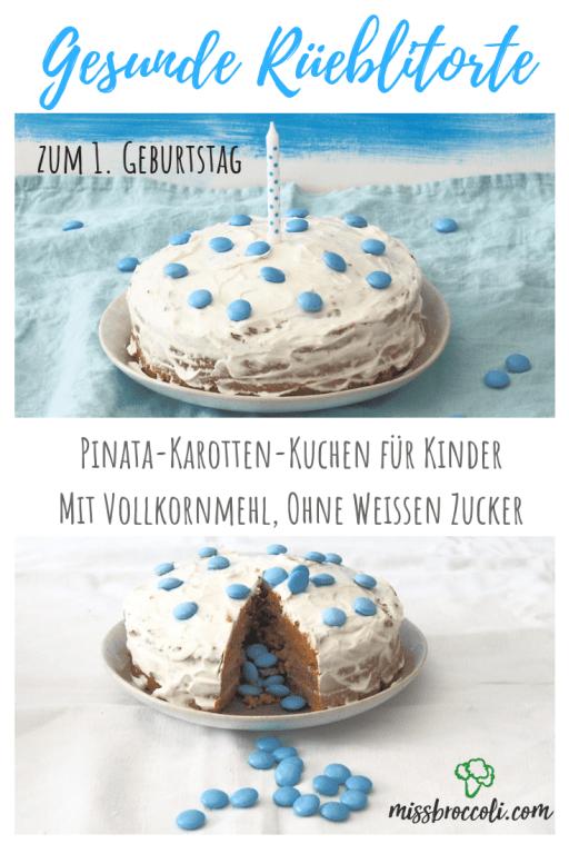 Gesunder Geburtstagskuchen Fur Kinder Ohne Industriezucker 1 Geburtstag Rezept Mit Bildern Gesunde Geburtstagstorten Geburtstagskuchen Kind Karotten Torte