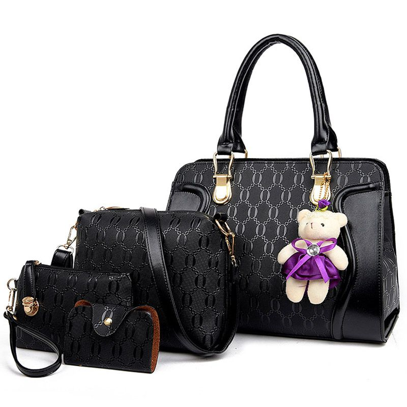 Famous Brand Women Bag With Bear 2017 Fashion Shoulder Bags Messenger Pu Leather Composite