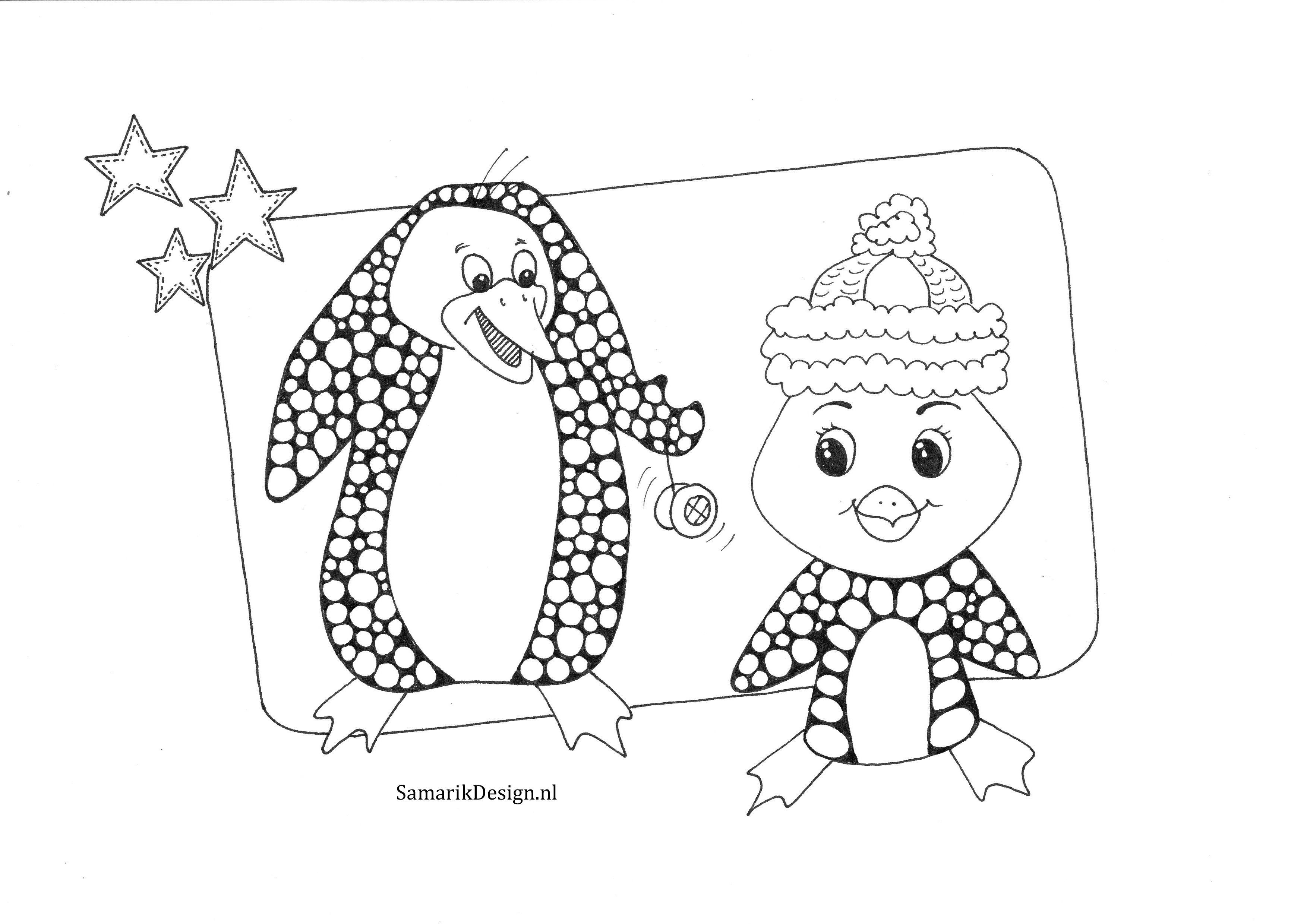 Kleurplaat Voor Volwassenen Winter Kleurplaten Voor Volwassenen Kleurplaten Pinguins