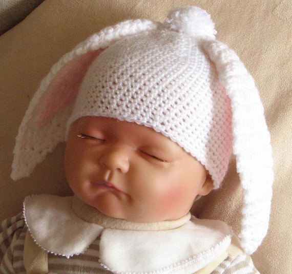 a8722eab6 Crochet pattern for floppy bunny ears hat in 4 sizes - INSTANT ...