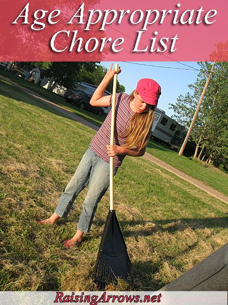 The age appropriate chore list that you will love! So many great ideas.