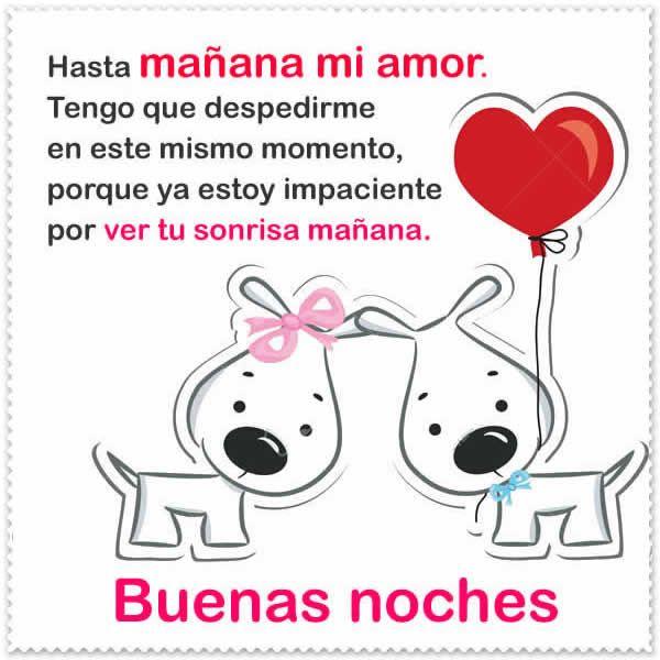 Feliz Noche Amor Mio Frases De Buenas Noches Hasta Manana Mi Amor
