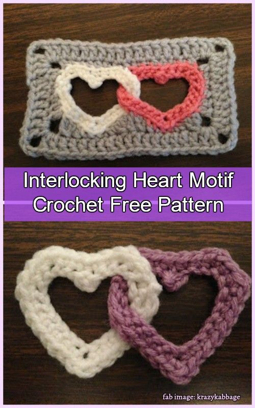 Crochet Linked Heart Motif Free Pattern Video Tutorial