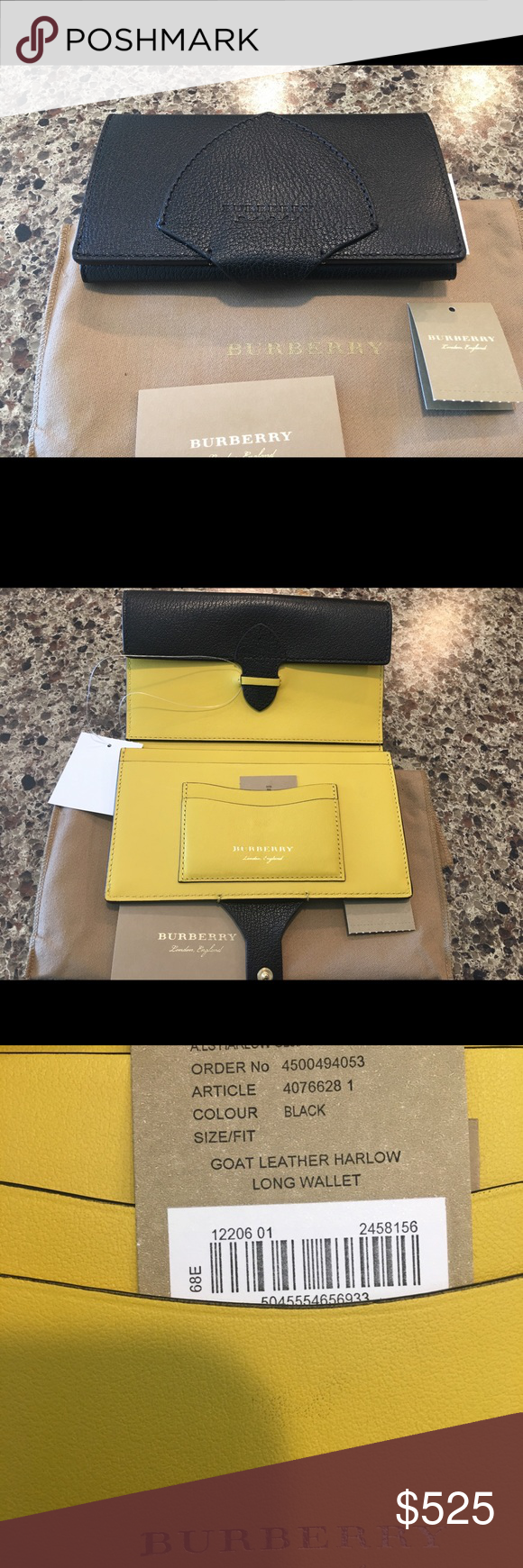 1ad8560d6892 NWT Burberry Two Tone Shield Wallet From the 2018 fall collection the wallet  has an Burberry