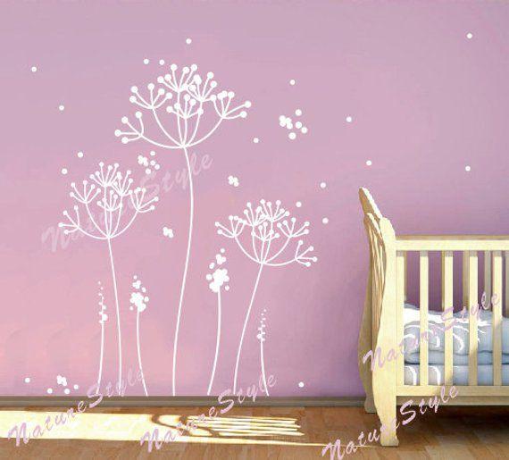 Dandelion Wall Decal Flower Nursery Room Vinyl