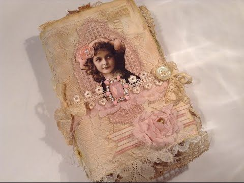 A Key to Unlock Memories - Mixed Media Fabric Journal - YouTube