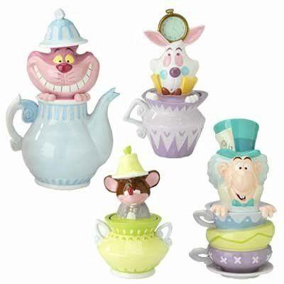 Disney Alice In Wonderland Cookie Jar Canister Set 4 I Have The