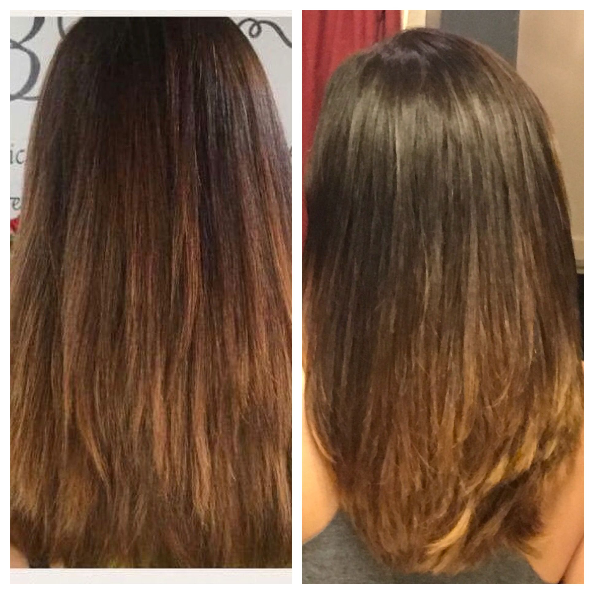 62467e00 This is my hair after the first wash with Monat and after the fourth wash!