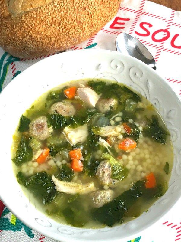 Italian Wedding Soup with Escarole and Mini Meatballs - Proud Italian Cook