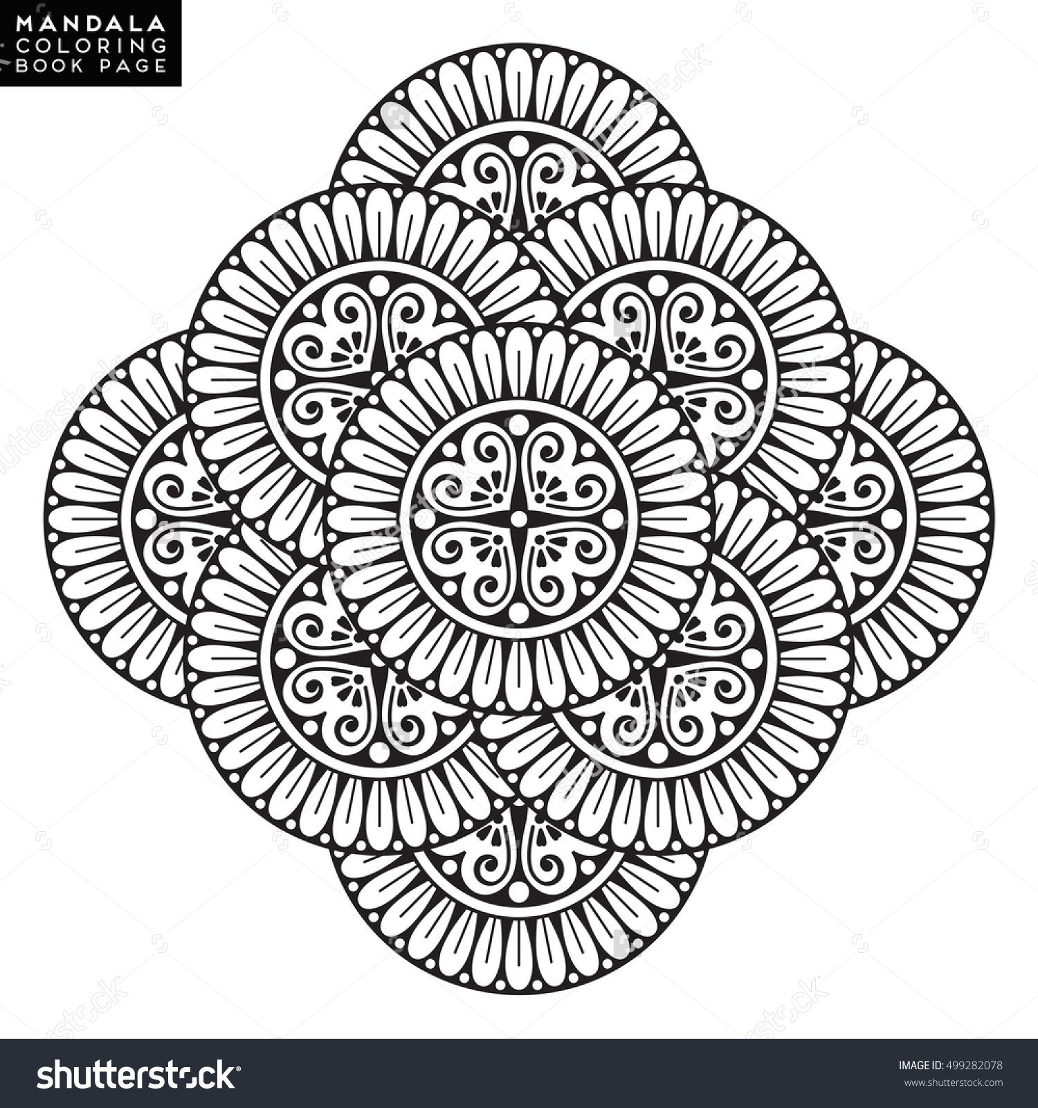 Coloring Pages Mandala Vector Floral Flower Oriental