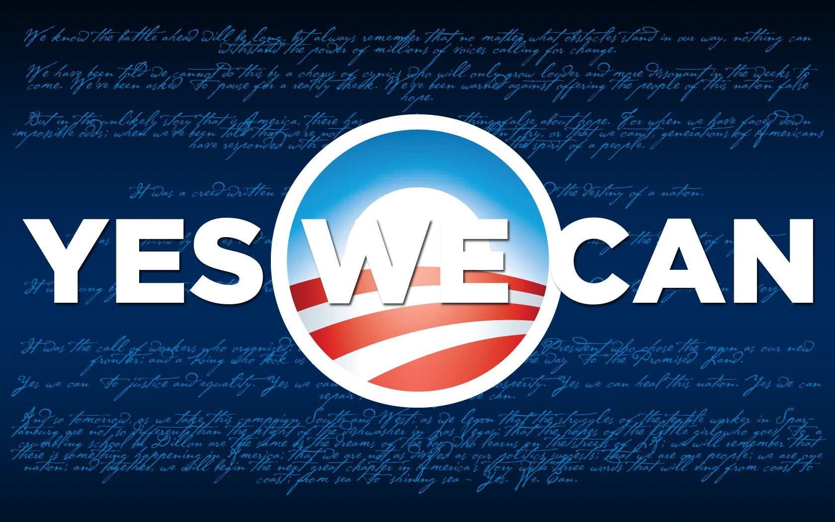 Yes We Can Speech by Search Engine
