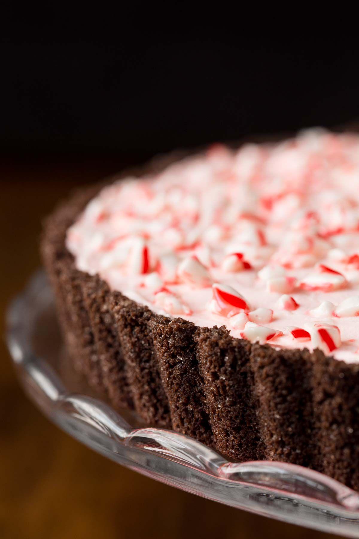 Peppermint Candy Cane Tart - thecafesucrefarine.com